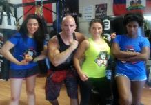 Personal Training Studio in Rockland County, during trainer workshop, Steve, Eva, Treshanna