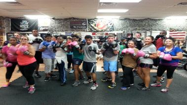 Group picture from boxing gym in Rockland county ny