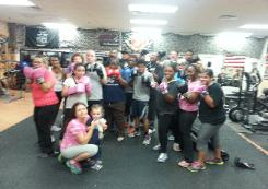 Weight Loss Boot Camp Group class, in Rockland county personal Training Gym, after boxing class