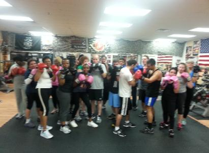 Personal Trainers Studio, group pic Boxing, Boot Camp class