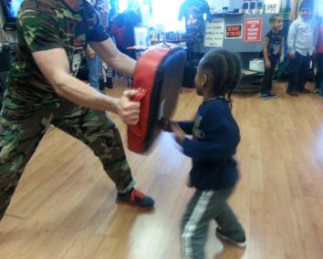 boxing for kids, fitness for kids, free training for your child, rockland county fighting gym, pad drills, boxing drills
