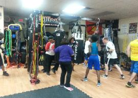 Personal Training Studio, Heavy Bag boxing drills, Boot Camp Conditioning