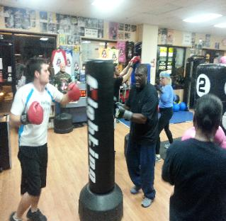 Heavy Bag kickboxing class in Nanuet, with Personal Trainer