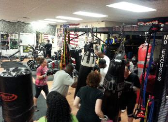 Boxing Boot Camp Group Fitness class, with best personal Trainers in Rockland