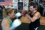Boot Camp, Kickboxing, Boxing clas  Instructor, Martin working punch mitts