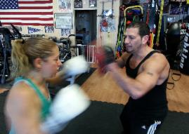 Boxing one on one with a personal trainer at Rockland County Gym