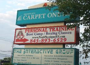sign for Personal training studio gym in Nanuet, Rockland on Route 59