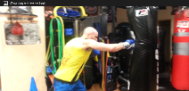 Boxing personal trainer, heavy bag punching kicking drills, workouts
