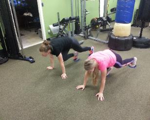 Total body conditioning boot camp class with personal trainer at gym in nanuet