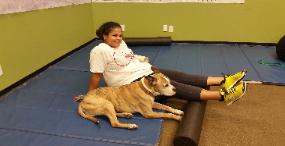 Weight Loss Boot camp, training center Rockland, Arlenne with Tyson dog
