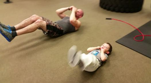 Personal Training studio, Steve and Tyson, ab workout in Nanuet Gym