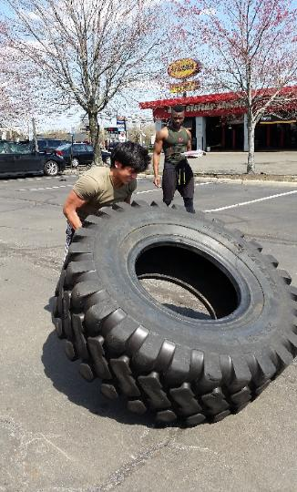 tire flips personal training outdoor workout Rockland County