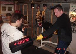 Boxing, slef defense drills, block punches, kicks