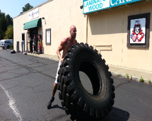 Personal Training studio gym in rockland county, outdoor tire flip workouts