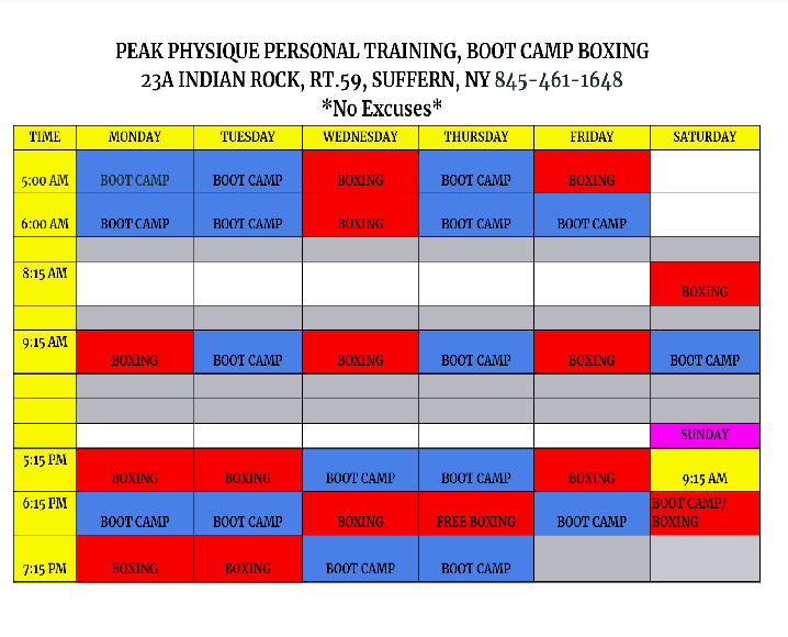Boot Camp and Boxing classes, in Suffern Gym- Rockland County Weight Loss